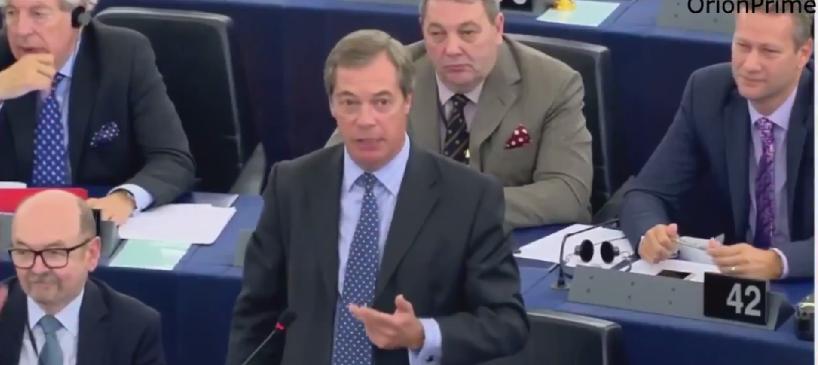 """Farage ostro do Junckera: """"Sposób, w jaki traktujesz Węgry i Polskę to radziecka przemoc. Dziękuję Bogu, że wychodzimy z Unii!"""". WIDEO"""