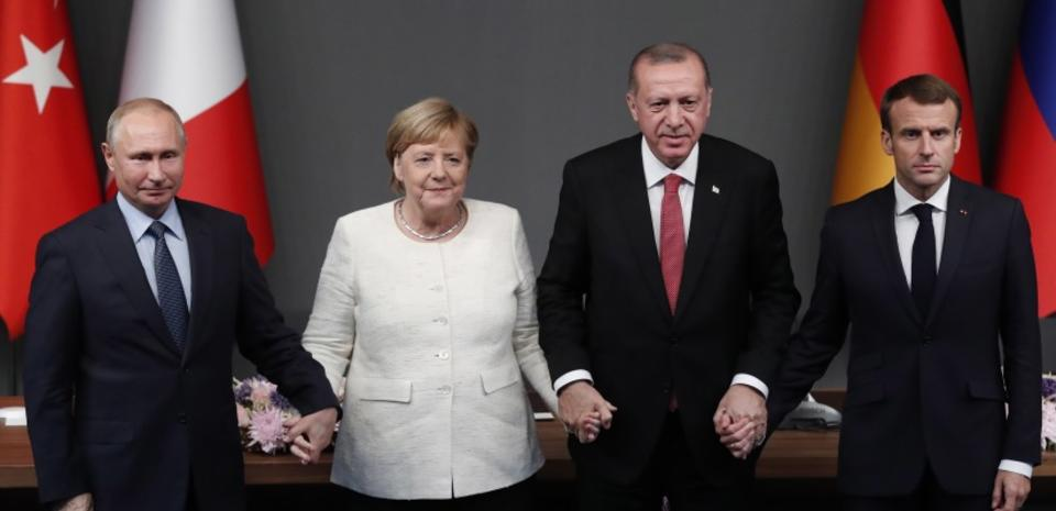 TURKEY SYRIA GERMANY FRANCE RUSSIA CONFLICT SUMMIT / autor: PAP/EPA/MAXIM SHIPENKOV / POOL