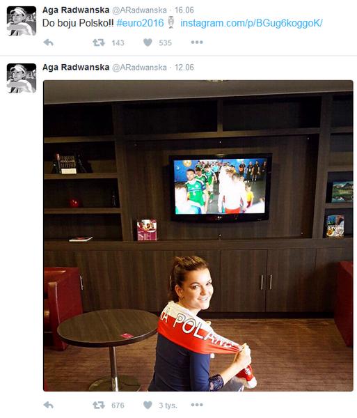 fot.Twitter/Aga Radwańska