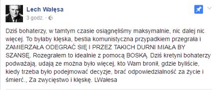 Lech Wałęsa Facebook / autor: Lech Wałęsa Facebook