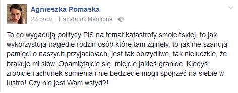 autor: fot.Facebook/Agnieszka Pomaska