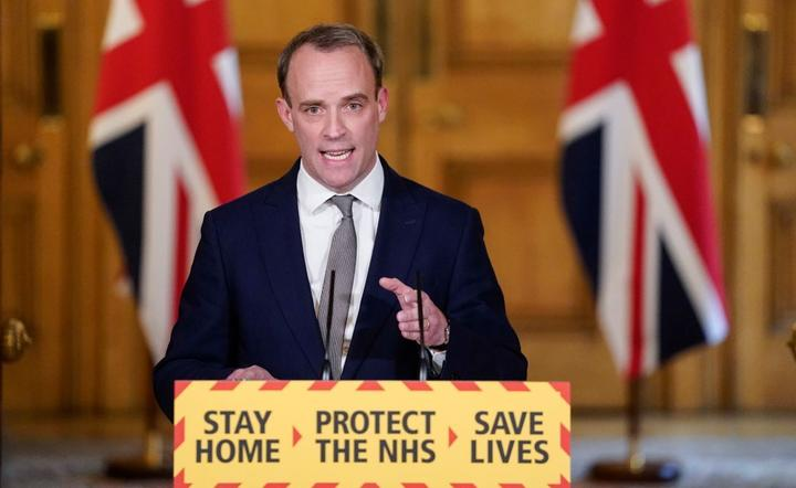 Dominic Raab / autor: PAP/EPA/ANDREW PARSONS / DOWNING STREET / HANDOUT