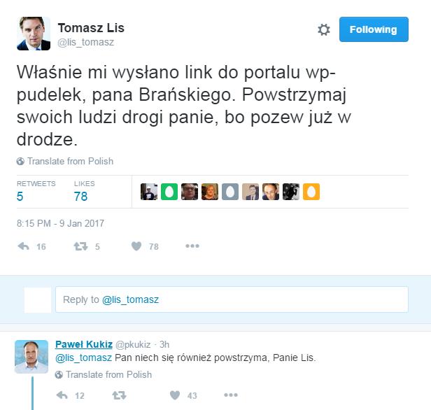fot. Twitter/Tomasz Lis