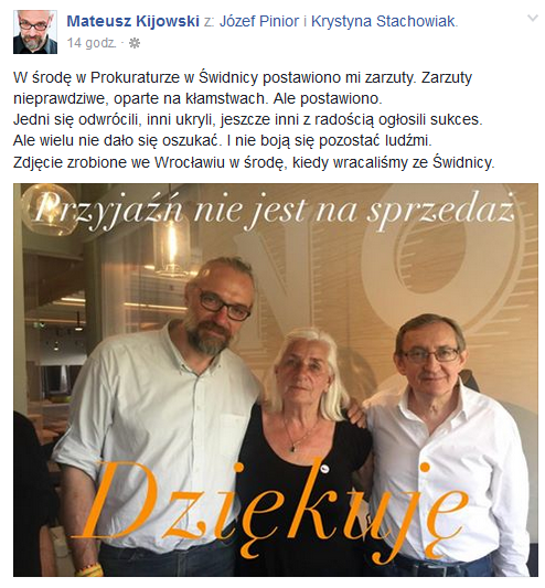 autor: autor: fot.Facebook/Mateusz Kijowski