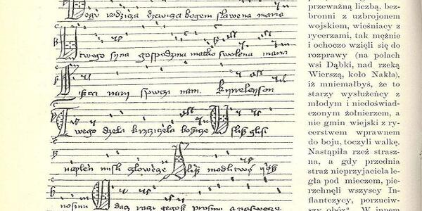 Będzie Można Zobaczyć Rękopis Bogurodzicy Pieśń Ta