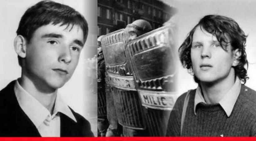 Po lewej Emil Barchański, po prawej Grzegorz Przemyk.