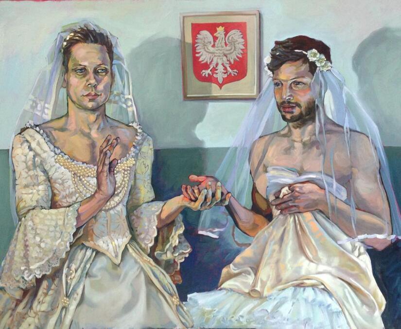 Namalowała ślub Gejów