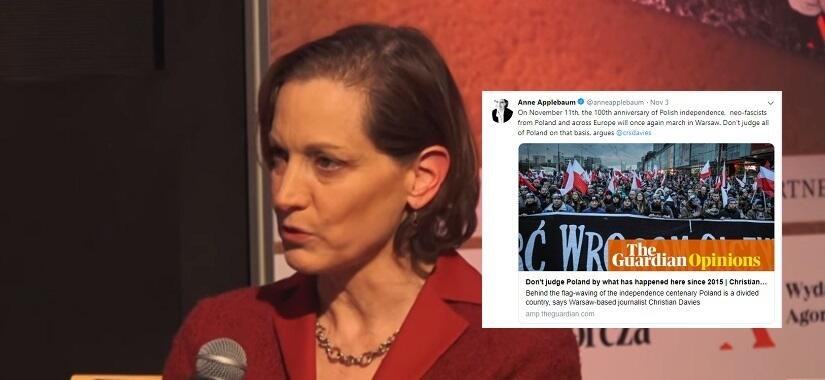 Anne Applebaum / autor: YouTube/Gazeta Wyborcza; Twitter