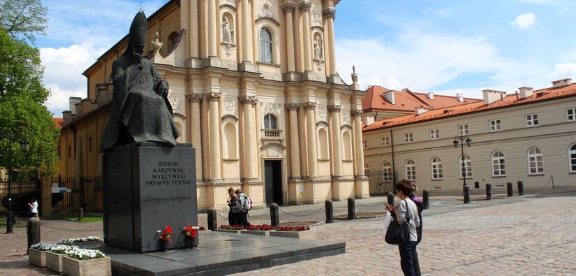 Pomnik Kardynała Prymasa Stefana Wyszyńskiego w Warszawie / autor: wPolityce.pl