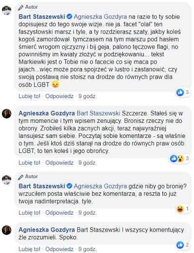 autor: Facebook/Bart Staszewski/Agnieszka Gozdyra