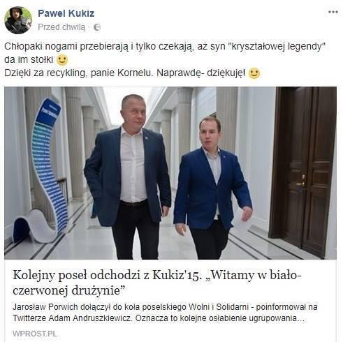 autor: screen Facebook Paweł Kukiz