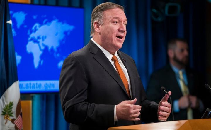 Mike Pompeo / autor: PAP/EPA/JIM LO SCALZO