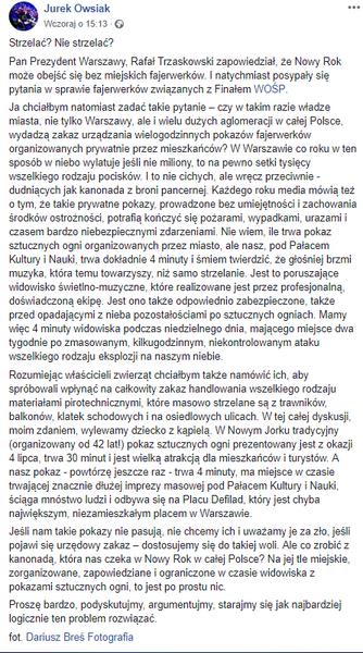 autor: Facebook Jerzy Owsiak