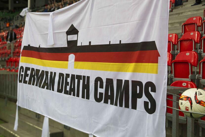 Znalezione obrazy dla zapytania german death camps flaga