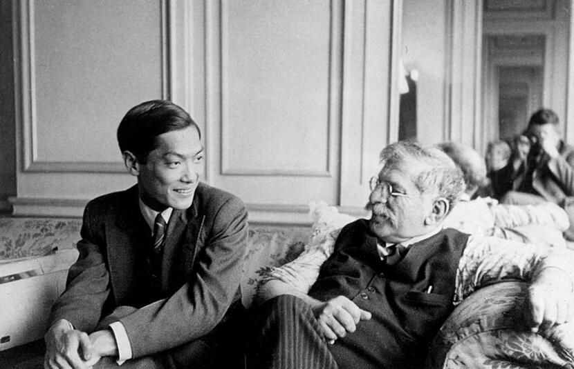 Magnus Hirschfeld ze swoim młodym chińskim kochankiem / autor: wikipedia