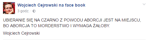 fot. Facebook/Wojciech Cejrowski na Face book