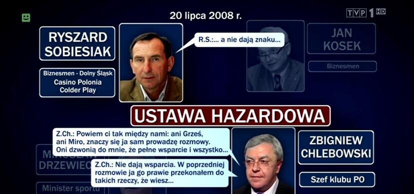 """""""Wiadomości"""" przypominają aferę hazardową, która wstrząsnęła rządem Tuska"""